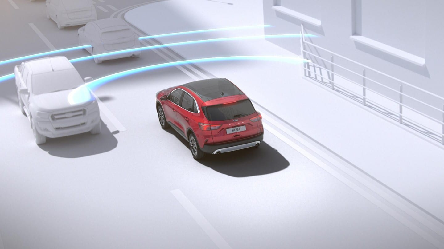 New Ford Kuga demonstrating pre-collision assist