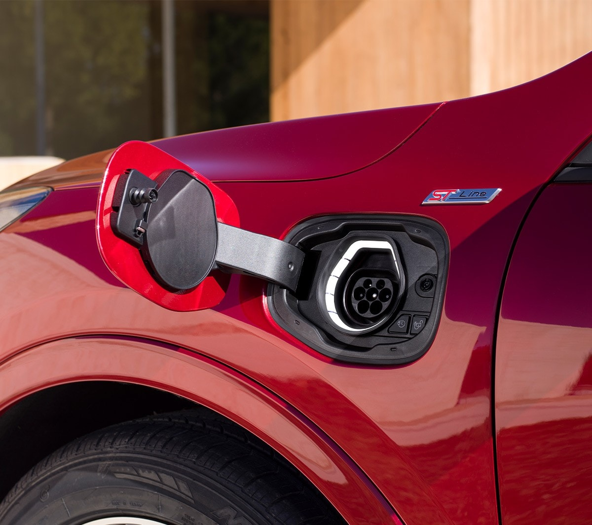All New Ford Kuga charging port close up