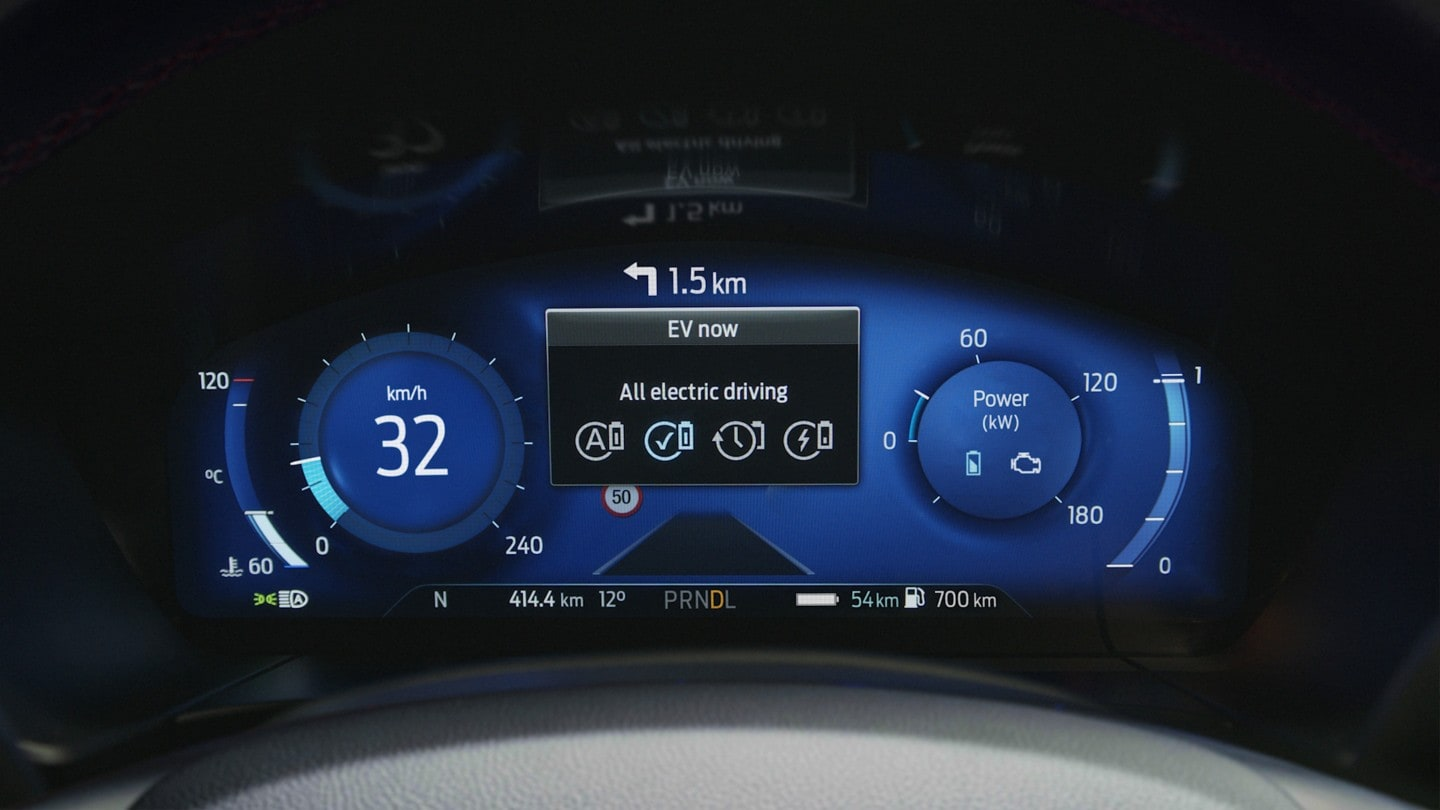 All new Ford Kuga interior dashboard close up