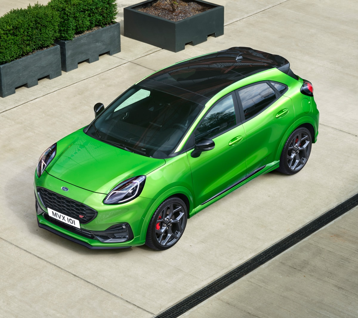 Ford Puma ST exterior overhead view